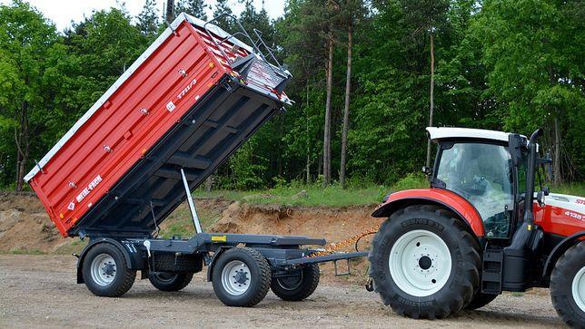 Przyczepa Rolnicza Metal-Fach T711/2 Dwuosiowa Wywrotka 10 ton
