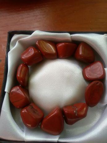 Jaspis czerwony przepiękna bransoletka.