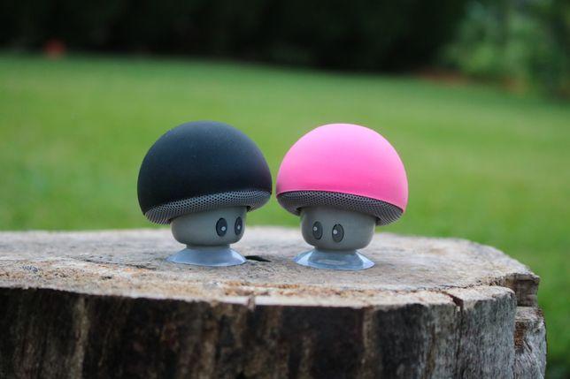 (PROMOÇÃO) Coluna Bluetooth em Rosa e Preto (Cogumelo)