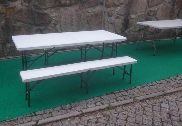Mesa rectangular c/pés dobraveis
