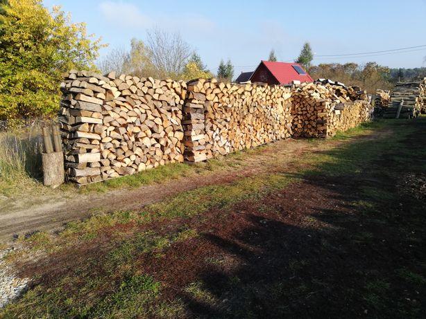 Drewno kominkowe i opałowe suche sezonowane roczne.