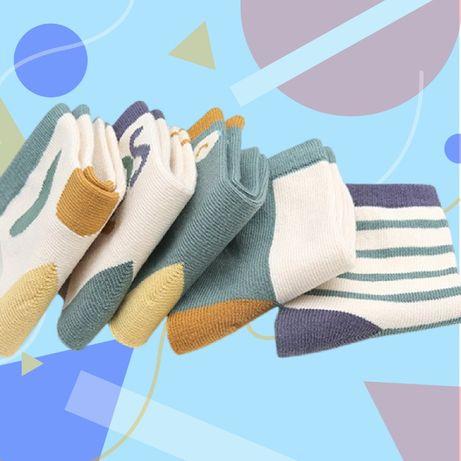Детские Хлопковые носки на мальчика S(1-3 года) и M(3-5 года) | 5 пар