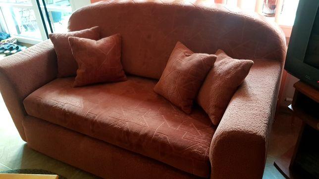 Rozkładana sofa kanapa tapczan z dwoma fotelami