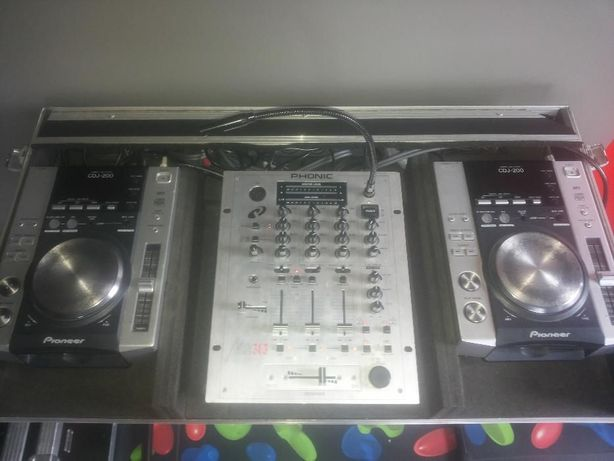 CDJ Pionieer 200 +mixer PHONIC MX 303+Case Bartczak+okablowanie