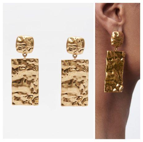 ZARA złote kolczyki 2 pary - jak nowe