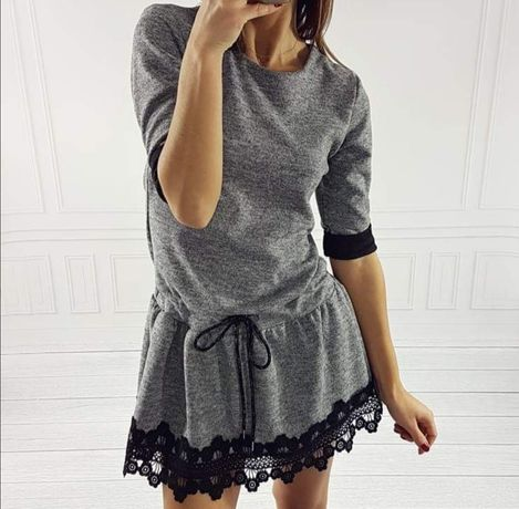 Sukienka szara r. Uniwersalny