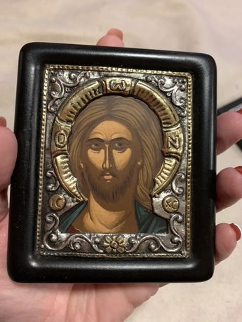 Икона серебро, позолота