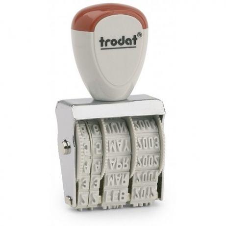 Датер ручной металлический ленточный шрифт укр 5мм Trodat 1020