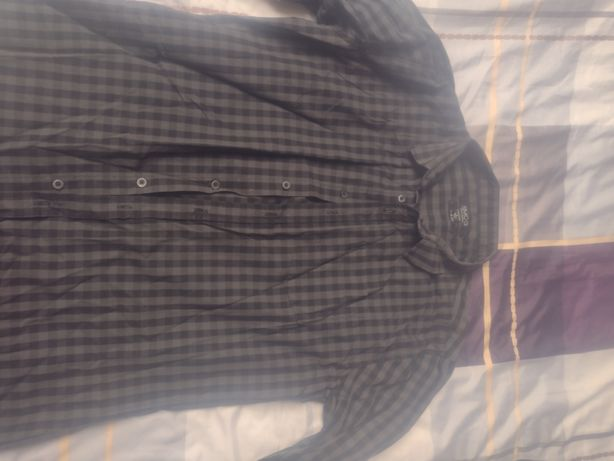 Koszula męska w kratę rozmiar l