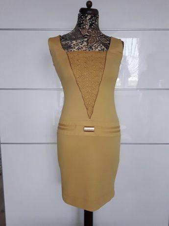 Piękna oliwkowa sukienka