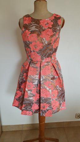 Sukienka Pink Soda S wesele chrzciny osiemnastka studniówka