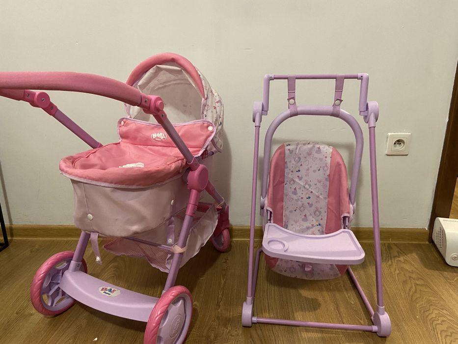 Wózek baby born, nosidło, huśtawka, fotelik do karmienia Piaseczno - image 1