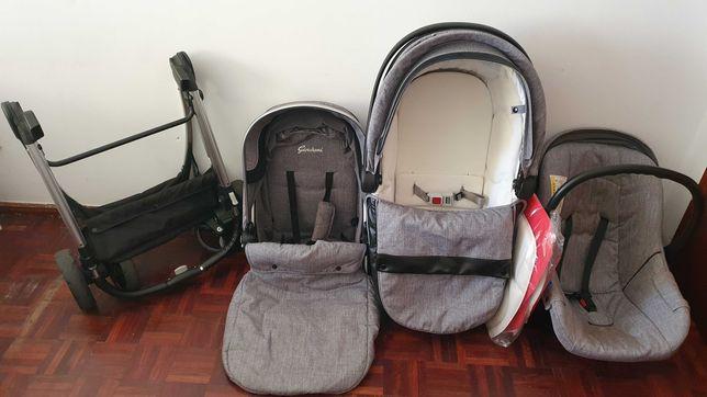 Carrinho bebé completo 3 peças OVO - ALCOFA - CADEIRA PASSEIO 0-3 Anos