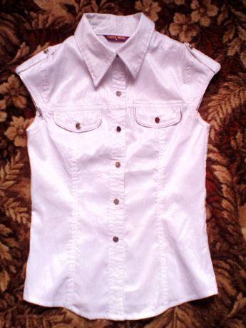 Блузка блузочка стрейчевая белая в школу 146 152 158+2 блузки в подаро