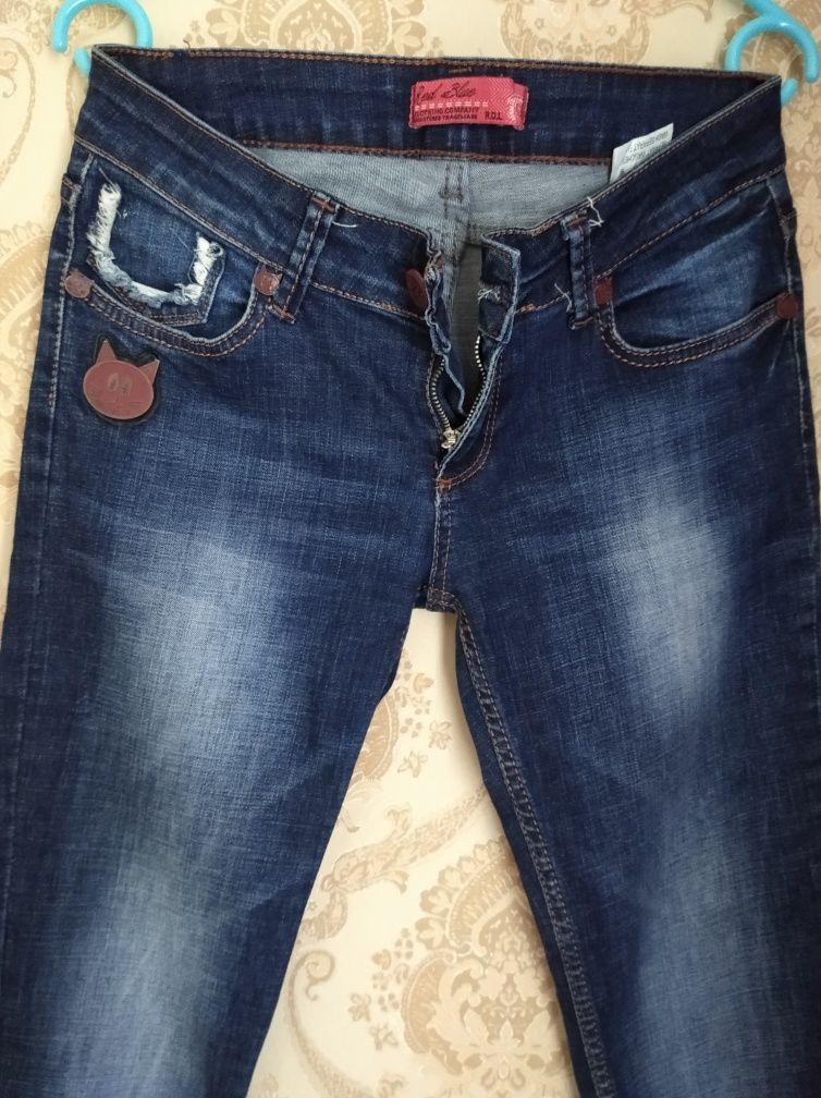 Джинси джинсы до косточек зауженные