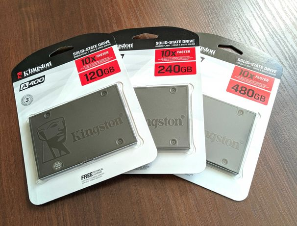 Акція! Нові SSD Kingston A400 (120/240/480 Gb) з гарантією на 3 роки