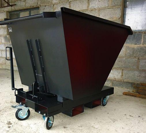 Kontener samowyładowczy, koleba uchylna, pojemnik, szufla 0,5 m3