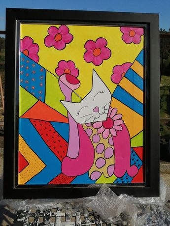 Quadros Gatos pintados