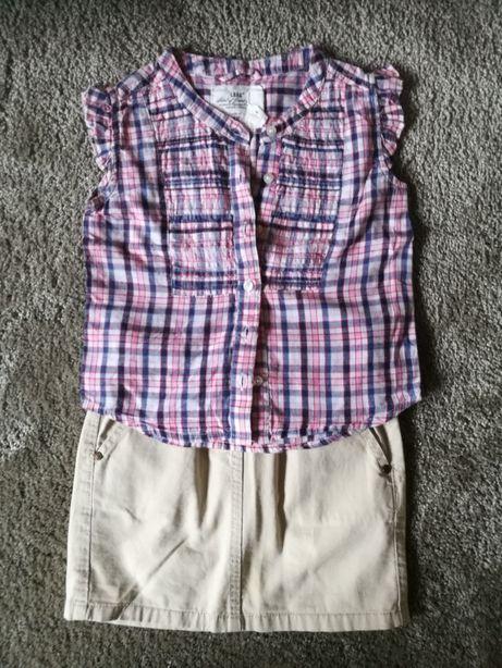 Zestaw koszulka i spódniczka rozmiar 104