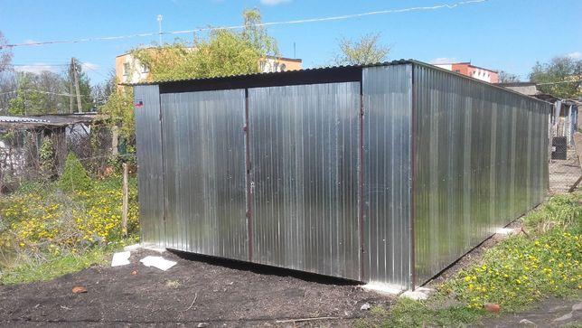 Okazja! Garaż blaszany 4x6 ocynk, 2.5 św. wj. garaże, wiaty, hale