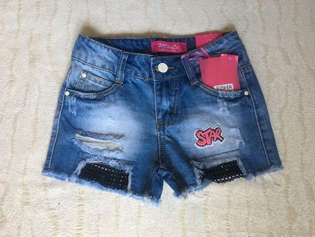Джинсовые шорты на девочку/дівчинку/підліток/подросток, размер 128-158