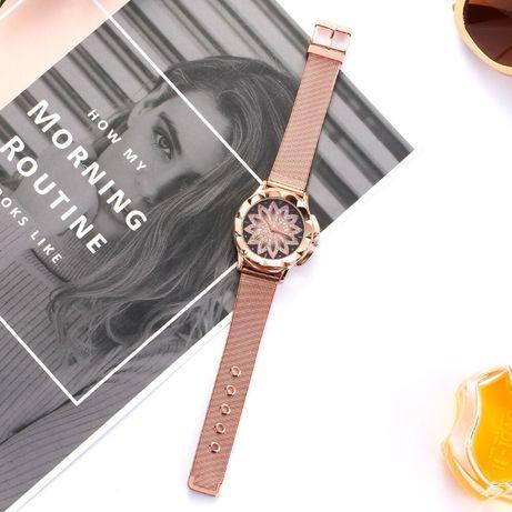 Zegarek złoty kwiat uni