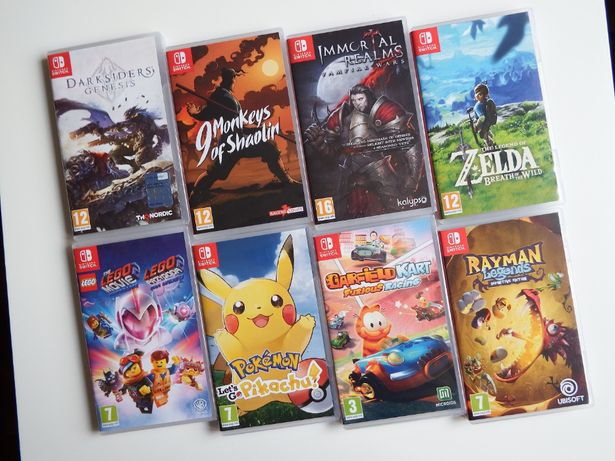 NINTENDO SWITCH GRY Zelda Pokemon Rayman 9 Monkeys LEGO Darksiders