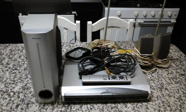 Dvd + conjunto home cinema Pioneer