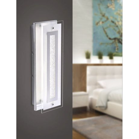 Wyprzedaż lampa sufitowa/kinkiet KISA LED szkło chrom SALE przecena