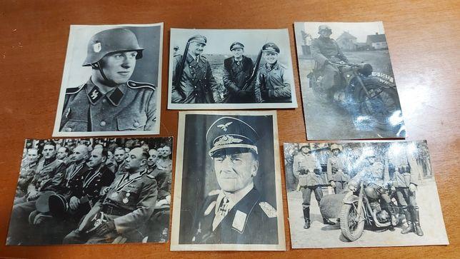 6 fotos Waffen SS  réplica  Alemanha nazi-suástica