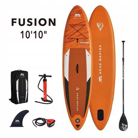 "Deska paddle board sup Aqua Marina Fusion 10""10"" Gwarancja+plywak"