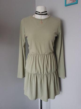 Nowa pistacjowa sukienka