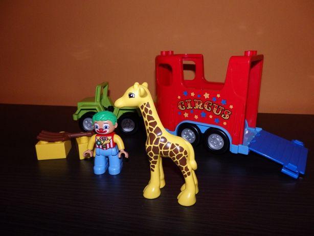 Lego Duplo transport żyrafy i clown 10550