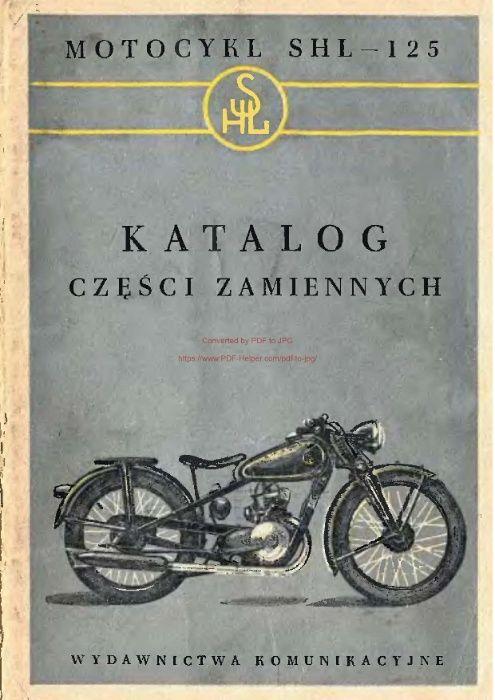 Katalog części motocykla SHL 125 - M04 Białystok - image 1
