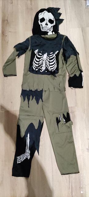 fato mascara esqueleto Halloween