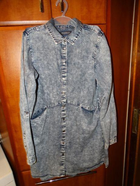 Sukienka koszula tunika dżinsowa Reserved