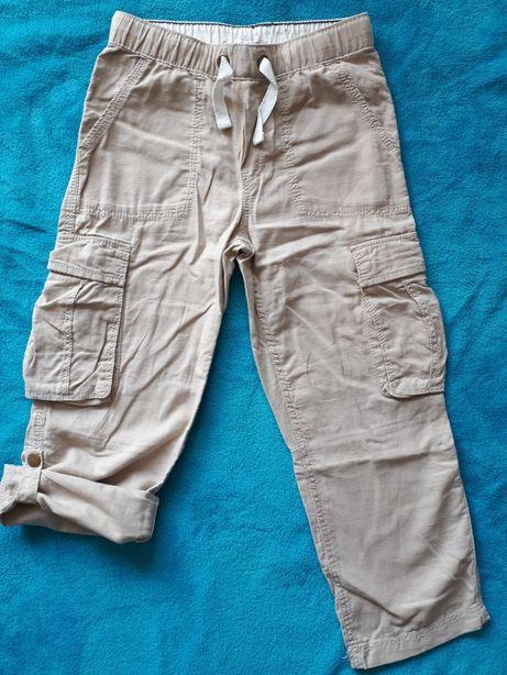 Roz.128 - nowe lniane spodnie chłopięce H&M