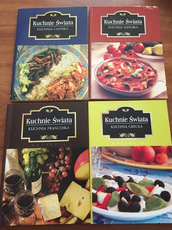 4 książki kucharskie z serii Kuchnie Świata