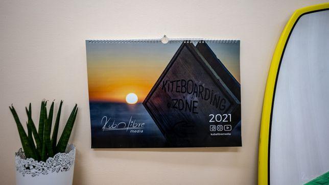 Autorski kalendarz A3 kitesurfing kiteboarding na rok 2021