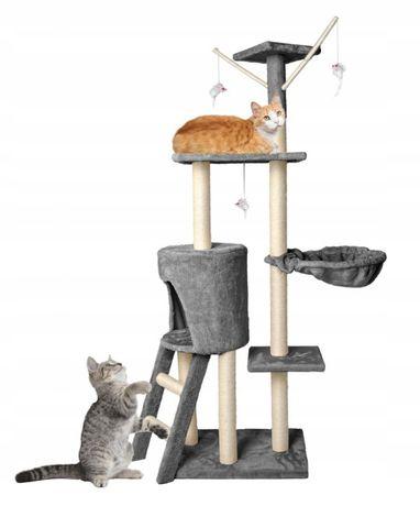 Nowy Drapak dla kota drzewko legowisko Domek 138cm KURIER 0zł DPD