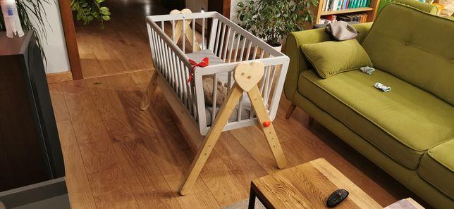 Kołyska drewniana niemowlęca ręcznie wykonana