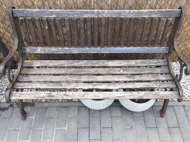 Ławka żeliwna ogrodowa