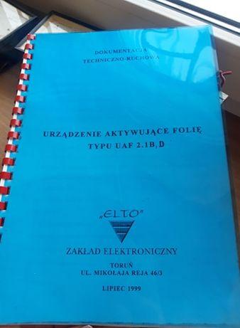 dokumentacja urządzenie aktywujące folię UAF 2.1B,D