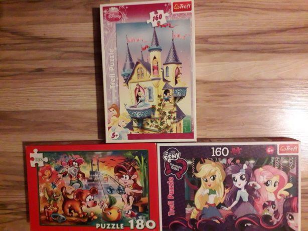 puzzle 3 kpl. po 160 i 180 sztuk