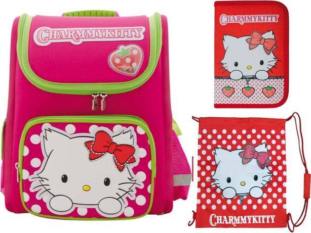 """Комплект """"Китти"""" рюкзак ортопедический, пенал, сумка, девочки, акция"""