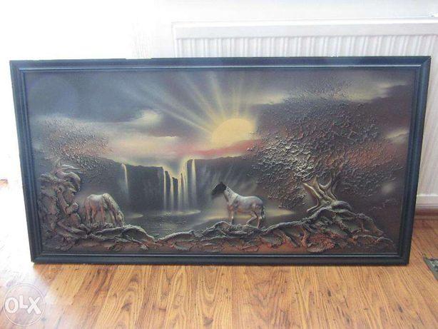 Obraz Gipsowy z gipsu w drewnianej ramie