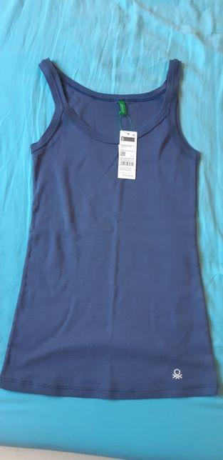 Nowa bluzka top t-shirt united colors of benetton granatowa