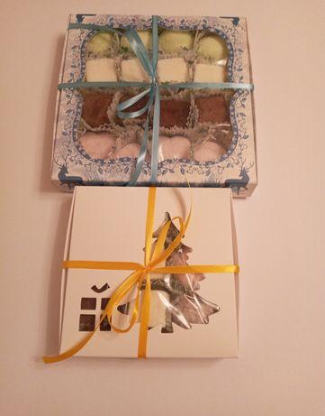 Зефир - маршмеллоу, мраморное шоколадное печенье с трещинками