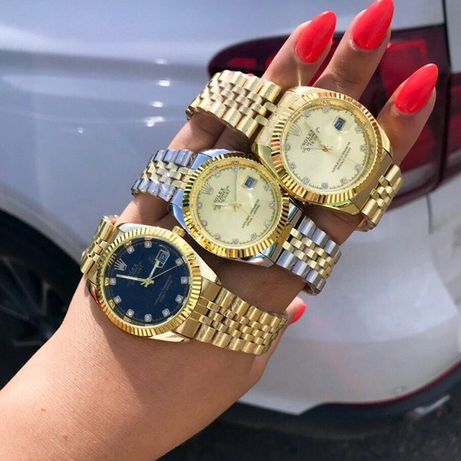 Женские часы Rolex Date Just, металлические часы Ролекс