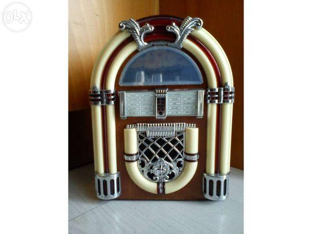 Vintage Jukebox Wurlitzer 3500 em Madeira vendo ou troco